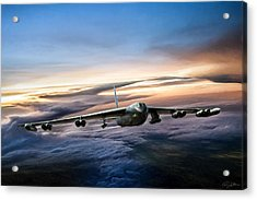 B-52 Inbound Acrylic Print by Peter Chilelli