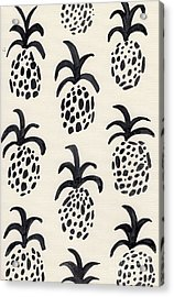 B And W Pineapple Print Acrylic Print by Anne Seay