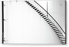 B And W Stairs Acrylic Print