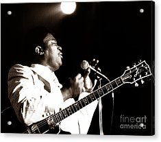 B B King And Lucille 1978 Acrylic Print by Chris Walter