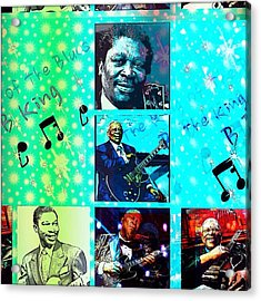 B B King Of The Blues  Acrylic Print