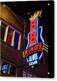 B B Kings On Beale Street Acrylic Print by Stephen Stookey