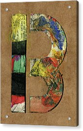 The Letter B Acrylic Print