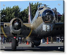 Acrylic Print featuring the photograph B17 Flying Fortress Taxiing by John King