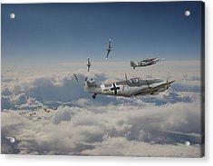 Acrylic Print featuring the digital art B17 - Luftwaffe Battleground by Pat Speirs