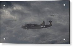Acrylic Print featuring the digital art B25 - 12th Usaaf by Pat Speirs