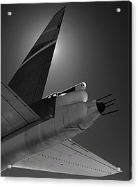 Acrylic Print featuring the photograph B52hind by Rand