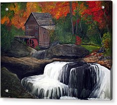 Babcock Mill Acrylic Print by Timothy Smith