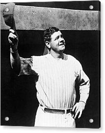 Babe Ruth 1895-1948, American Baseball Acrylic Print by Everett
