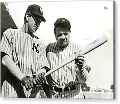 Babe Ruth And Lou Gehrig Acrylic Print