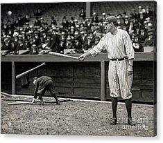 Babe Ruth At Bat Acrylic Print
