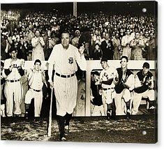 Babe Ruth At Yankee Stadium Acrylic Print by Doc Braham
