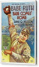 Babe Ruth Comes Home 1927 Acrylic Print