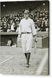 Babe Ruth Going To Bat Acrylic Print