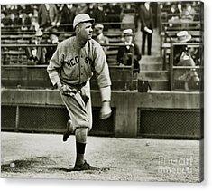 Babe Ruth Pitching Acrylic Print