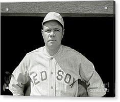 Babe Ruth Red Sox Acrylic Print