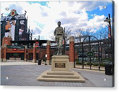 Acrylic Print featuring the photograph Babes Dream - Camden Yards Baltimore by Bill Cannon