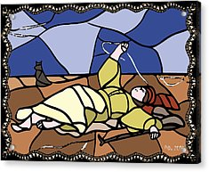 Babie Lato Stained Glass Version Acrylic Print