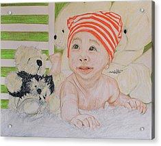 Baby And Stuff Bears Acrylic Print