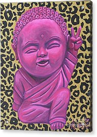 Acrylic Print featuring the painting Baby Buddha 2 by Ashley Price