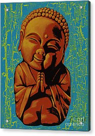 Baby Buddha Acrylic Print by Ashley Price
