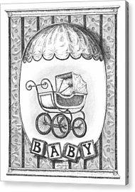 Baby Carriage Acrylic Print by Adam Zebediah Joseph