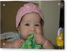 Acrylic Print featuring the photograph Baby Face by Michael Albright