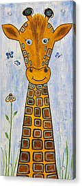 Baby Giraffe Acrylic Print by Suzanne Theis