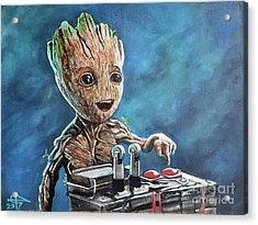Baby Groot Acrylic Print by Tom Carlton