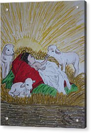 Baby Jesus At Birth Acrylic Print