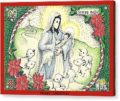 Baby Jesus In Medjugorje Acrylic Print