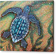 Baby Leatherback Sea Turtle Acrylic Print