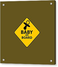 Baby On Board Acrylic Print by Michelle Murphy