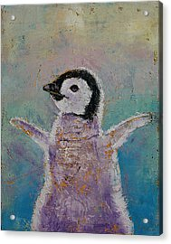 Baby Penguin Acrylic Print by Michael Creese