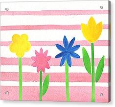 Baby Pink Flower Bed Acrylic Print by Irina Sztukowski