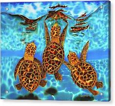 Baby Sea Turtles Acrylic Print