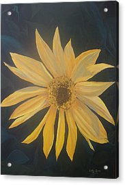 Acrylic Print featuring the painting Baby Sunflower by Betty-Anne McDonald
