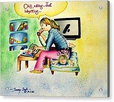 Babysitting Acrylic Print by Tanmay Singh