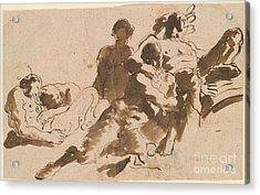 Bacchus And Fauns Acrylic Print