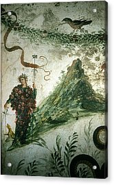 Bacchus, Roman God Of Wine, Stands Acrylic Print by O. Louis Mazzatenta