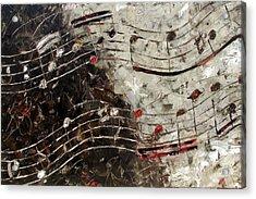 Bach Invention 13 Acrylic Print by Debra Hurd