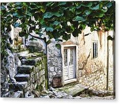 Back Alley Living Acrylic Print by Janet Fikar