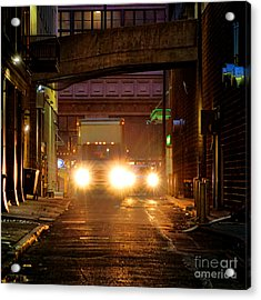 Back Alley Acrylic Print by Olivier Le Queinec