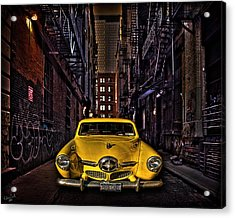 Back Alley Taxi Cab Acrylic Print