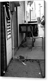 Back Alley View Acrylic Print by Pam Walker
