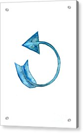 Back Arrow Watercolor Poster Acrylic Print by Joanna Szmerdt