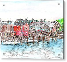 Back Bay, Atlantic City, Nj Acrylic Print