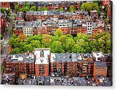 Back Bay Boston  Acrylic Print by Carol Japp
