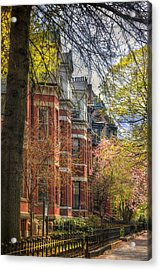 Back Bay Brownstones In Spring - Boston Acrylic Print by Joann Vitali