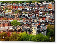 Back Bay Acrylic Print by Rick Berk